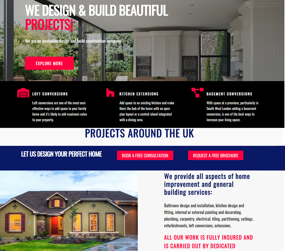 Design Build Solutions website designed by evantu it and web solutions