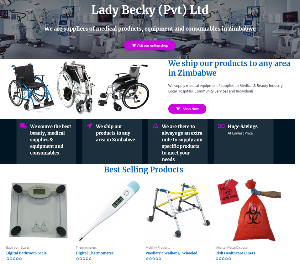 ladybecky website designed by evantu it and web solutions