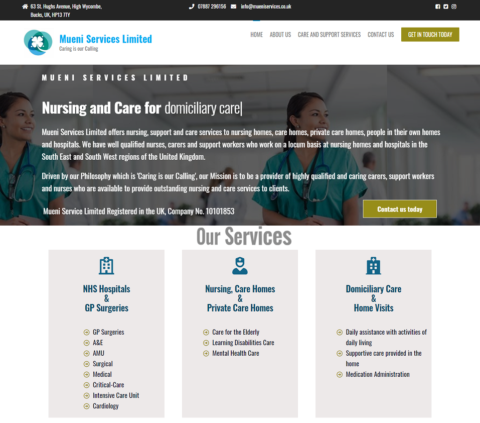 mueni services website designed by evantu it and web solutions