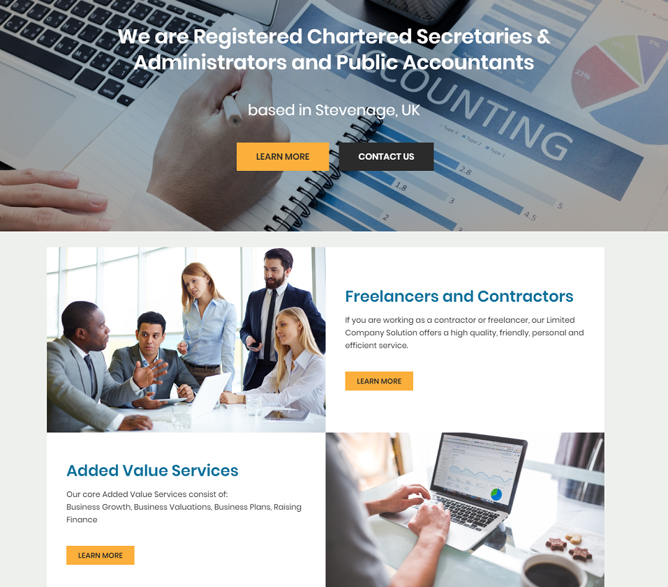 ssaccounting services website designed by evantu it and web solutions