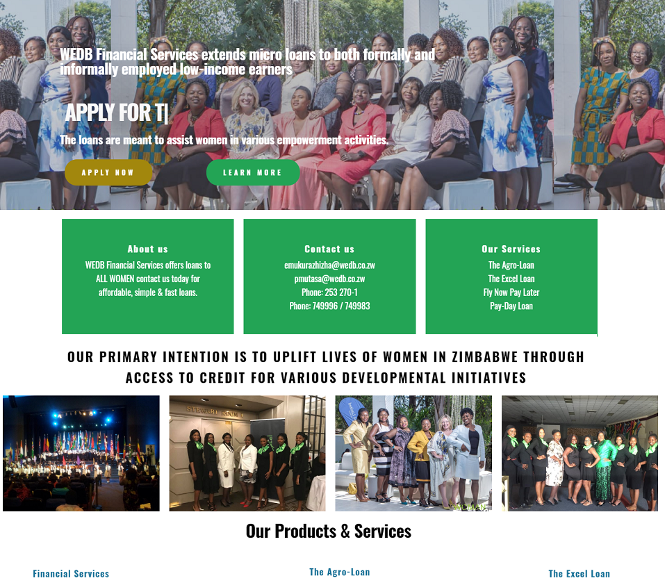 wedb website designed by evantu it and web solutions