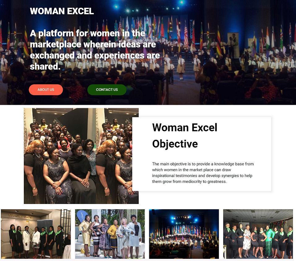 woman excel website designed by evantu it and web solutions