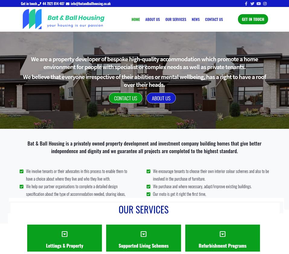 batandballhousing.co.uk website designed by evantu it and web solutions