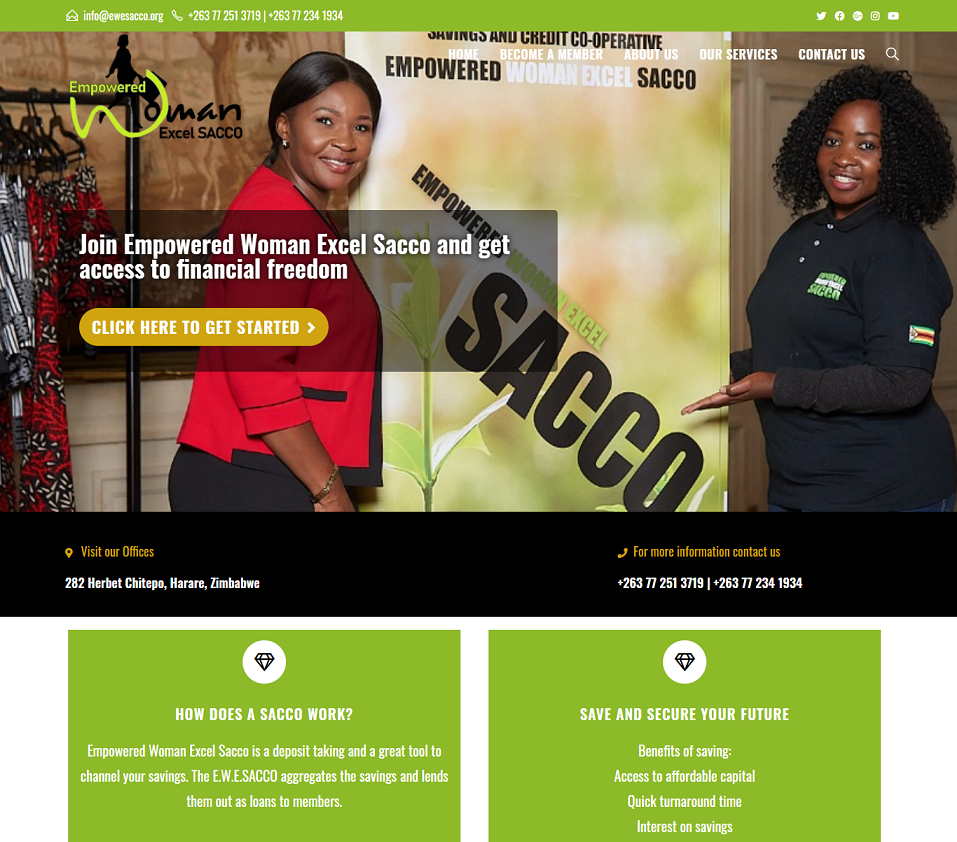 ewesacco.org website designed by evantu it and web solutions